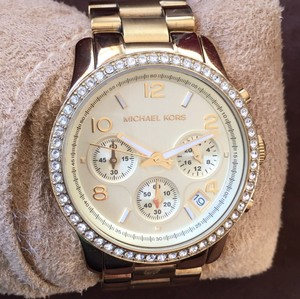 Michael Kors Gold Chronograph Bracelet Watch