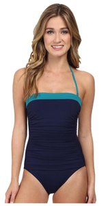 Tommy Bahama Tommy Deck Piping Bandeau Cup One-Piece Swimsuit
