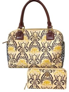 Tory Burch Satchel in Ivory / Paisley