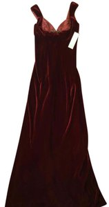 Badgley Mischka Velveteen Gown Ball Gown Shawl Dress
