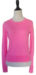 J.Crew Merino Wool Pink Bright Color Sweater