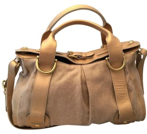 Kooba Satchel in Gold and Tan