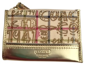 Coach Wristlet in Multicolor/Gold