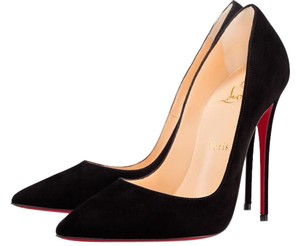Christian Louboutin black Suade Pumps