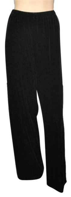 Ellen Tracy New Velvet Stretch Relaxed Pants Black