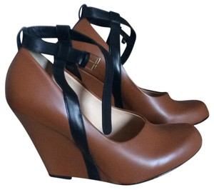 Bally Brown and Black Wedges