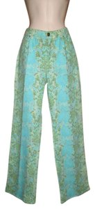 Just Cavalli Metallic Denim Print Straight Leg Jeans