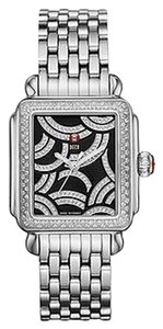 Michele NWT MICHELE Art Deco Gold, Black Diamond Dial watch