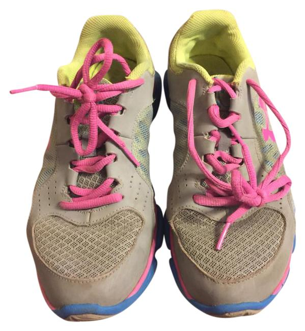 Item - Gray/Yellow/Blue/Pink Gray/Neon Accented Sneakers Size US 6 Regular (M, B)