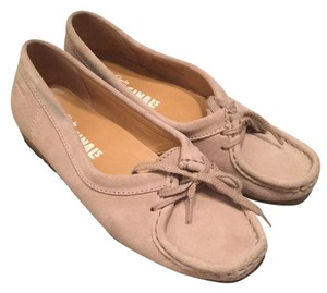 Clarks Sand Suede Flats