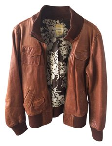 Fossil Cognac Leather Jacket