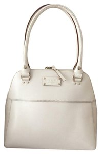Kate Spade Leather Classic Tote in Ivory
