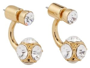 Kate Spade NEW!!! Tags Gold Double Sided Rhinestone Earrings