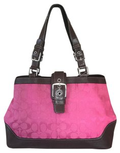 Coach Tote in Pink & Brown