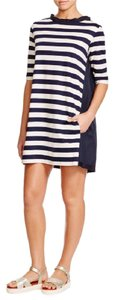 Moncler short dress navy and cream on Tradesy