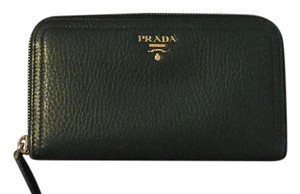Prada continental leather wallet