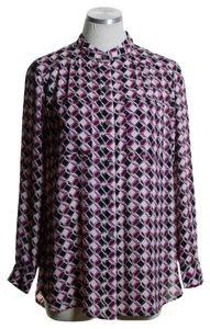 Vince Camuto Button Down Shirt Pink Multi