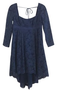 Free People short dress evening blue on Tradesy