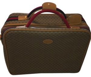 Gucci Tan with green/red shoulder strap. Travel Bag
