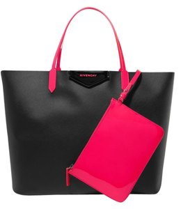 Givenchy Antigona Leather Tote in black, neon pink
