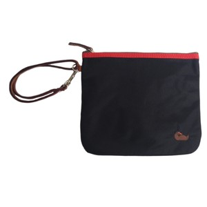 Dooney & Bourke Wristlet in Black and Purple