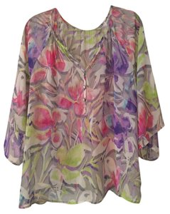 Everly Floral Top Multicolor Floral