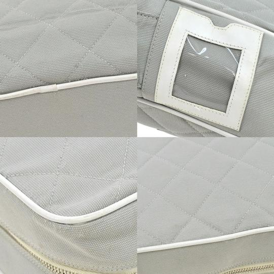 """Chanel 12"""" Large Canvas Quilted Crossbody Xl Classic Logo Jumbo Cc Camera Shoulder Duffle Messenger Bag"""