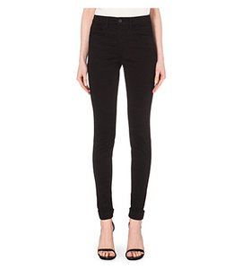 J Brand High Waist Cropped Stretch Skinny Pants Navy