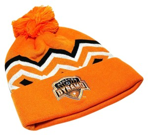 adidas Houston Dynamo MLS Soccer Adidas Cuffed Pom Beanie Knit Orange Hat Cap