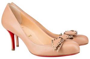 Christian Louboutin Red Bottoms Ballalarina Nude Pumps
