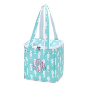 Ava Bella Designs Cooler Insulated Summer Tote in blue