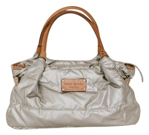 Kate Spade Metallic Apres Ski Tote in silver