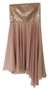 Minuet Petite short dress Champagne Sequin Strapless Party on Tradesy
