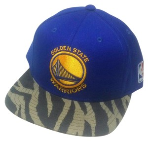 adidas Golden State Warriors NBA Adidas Tiger Leather Brown Blue Snapback Hat
