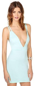 Nasty Gal V-neck Racer-back Ultra Mini Mini Dress