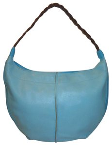 Fossil Refurbished Blue Leather Shoulder Bag