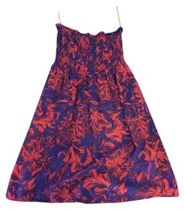 Charlotte Russe short dress Purple, orange Strapless Print Summer Spring on Tradesy