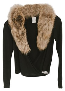 bebe Fur Trimmed Genuine Fur With Fur Cardigan