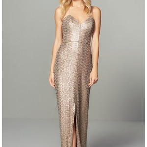 Amsale Gold Samantha Gold Sequin Dress