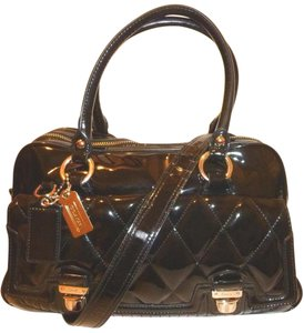 Coach Nwot Patent Leather Lined Convertible Cross Body Bag