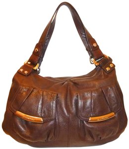 B. Makowsky Refurbished Leather Lined X-lg Hobo Bag