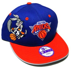 New Era New York Knicks New Era NBA Bugs Bunny Looney Tunes Youth Blue Hat Cap