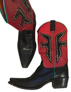 Frye Red, Turquoise, Black Boots