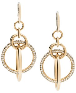 Michael Kors Michael Kors Pave Crystal Orbital Drop Earrings Gold-tone