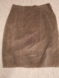 Other Vintage Suede 80's Skirt Brown