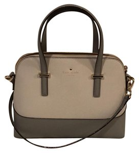 Kate Spade Satchel in grey; stone