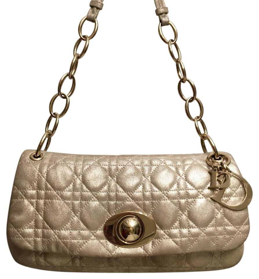 Dior Rendezvous Gold Leather Shoulder Bag - Tradesy 239079e487400