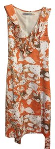 Marc New York Orange White Summer Dress