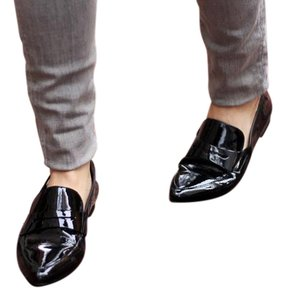 Paul Green Patent Leather Loafers black Flats