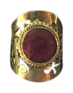 Sterling Silver With Ruby Stone Size 7.5